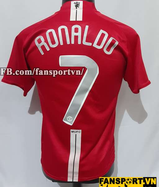 Áo đấu Ronaldo #7 Manchester United Champion League Final 2008 shirt