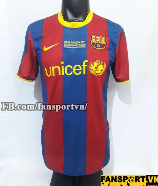Áo đấu Messi #10 Barcelona Champion League Final 2011 home shirt