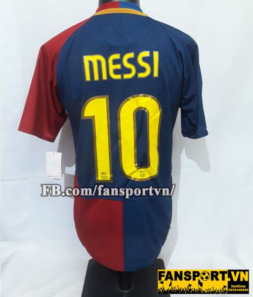 Áo đấu Messi #10 Barcelona Champion League Final 2009 home shirt