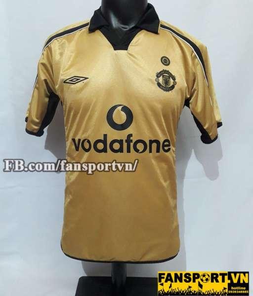 Áo đấu Manchester United 2001-2002 away third shirt jersey 100 nam