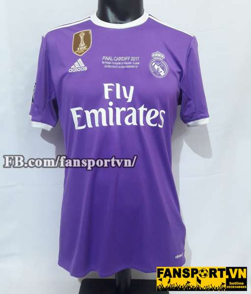 Áo đấu Real Madrid Champion League Final 2017 away shirt jersey purple