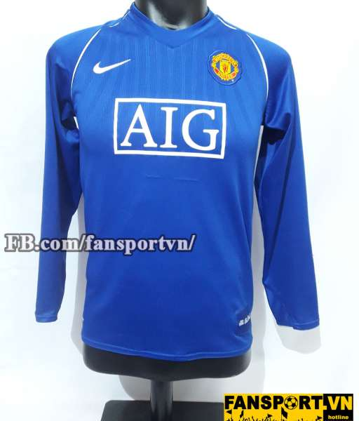 Áo Van Der Sar #1 Manchester United 2007-2008 home goalkeeper shirt GK