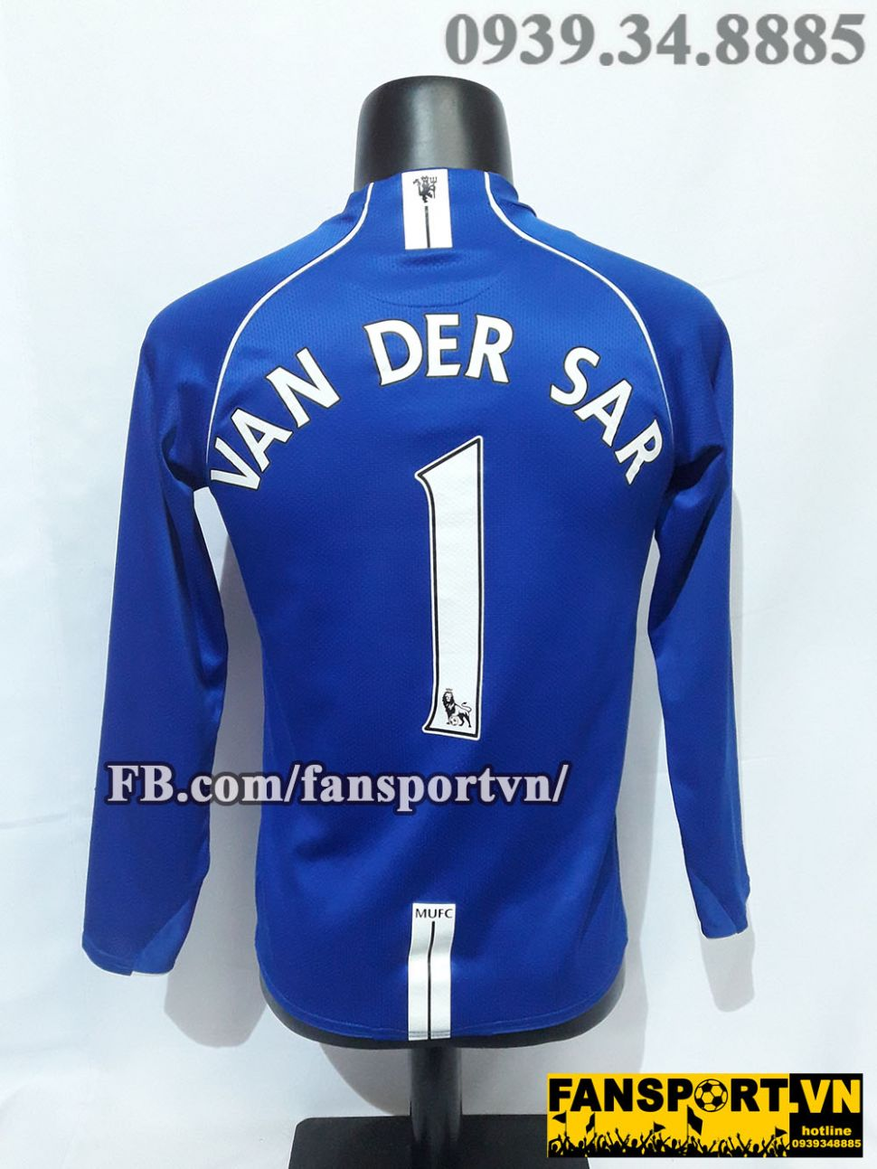 Áo Van Der Sar #1 Manchester United 2007-2008 home goalkeeper shirt GK