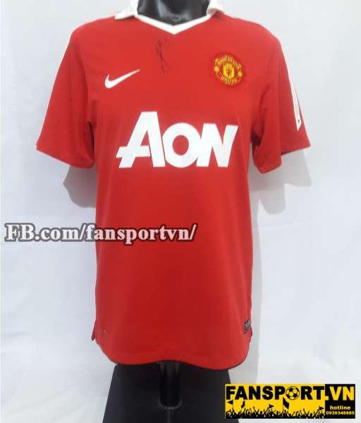 Áo đấu chữ ký Park Ji Sung Manchester United 2010-2011 home shirt red