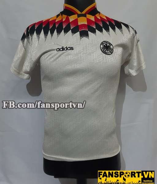 Áo đấu Germany 1994-1995-1996 home shirt jersey white World Cup