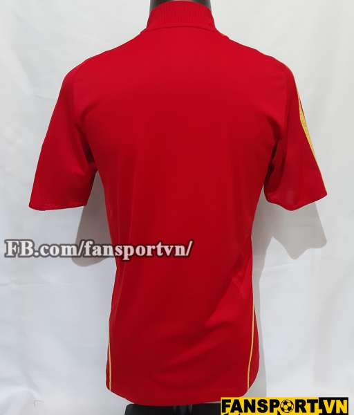 Áo đấu Spain 2008-2009 home shirt jersey red Euro champions