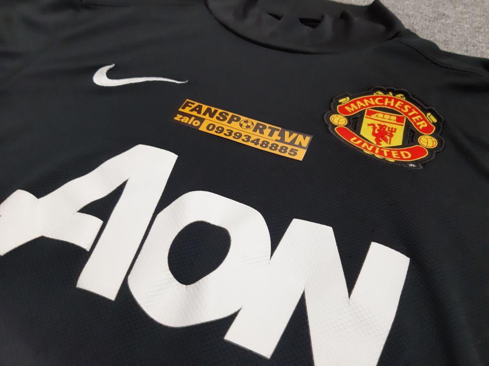 Áo De Gea #1 Manchester United 2011-2012 third shirt jersey black GK