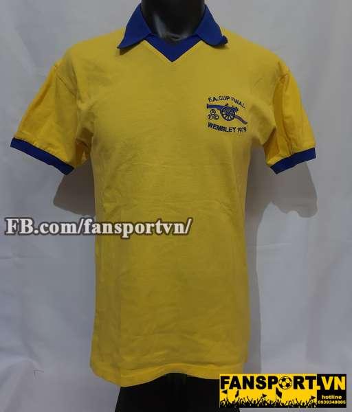 Áo đấu Arsenal FA Cup final 1979 away shirt jersey yellow