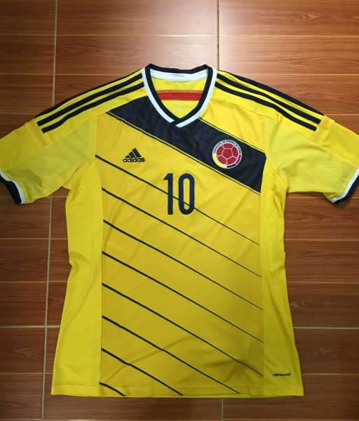 Áo đấu James Rodriguez #10 Colombia 2014-2015 home shirt jersey yellow