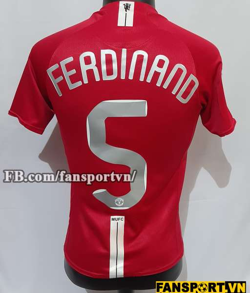 Áo đấu Ferdinand #5 Manchester United Champion League Final 2008 shirt