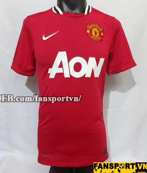 Áo đấu Manchester United 2011-2012 home shirt jersey red