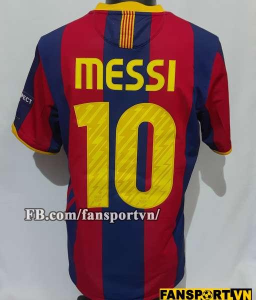 Áo đấu Messi #10 Barcelona Champion League Final 2011 home shirt 2010