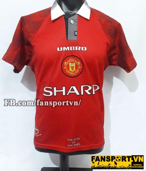 Áo đấu Beckham #10 Manchester United 1996-1997 home shirt jersey red