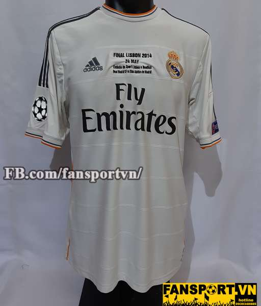 Áo đấu Real Madrid Champion League final 2014 home shirt jersey white