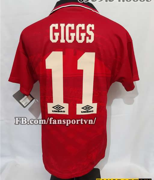 Áo đấu Giggs #11 Manchester United FA Cup final 1995 home shirt red