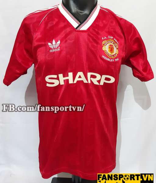 d6f1e70ba Áo đấu Manchester United FA Cup final 1990 home shirt jersey red ...