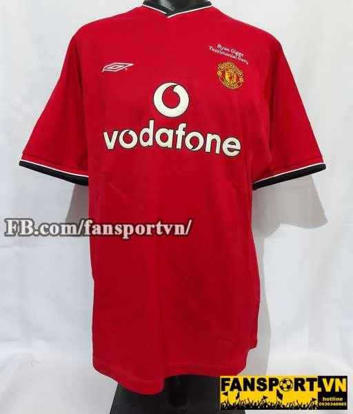 Áo đấu #11 Manchester United Testimonial Ryan Giggs 2001 home shirt