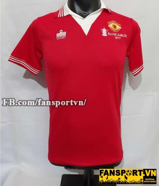 e786e0531 Áo đấu Manchester United FA Cup final 1977 home shirt jersey red ...