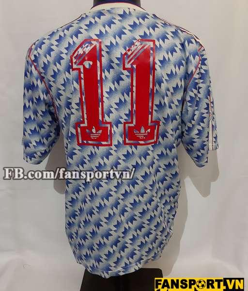 Áo đấu Giggs #11 Manchester United League Cup final 1992 away shirt