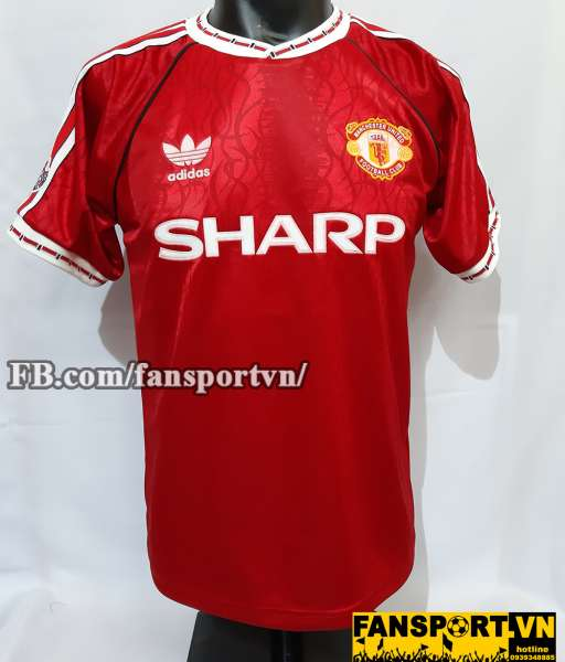 Áo đấu #9 Manchester United UEFA Super Cup 1991 home shirt jersey red