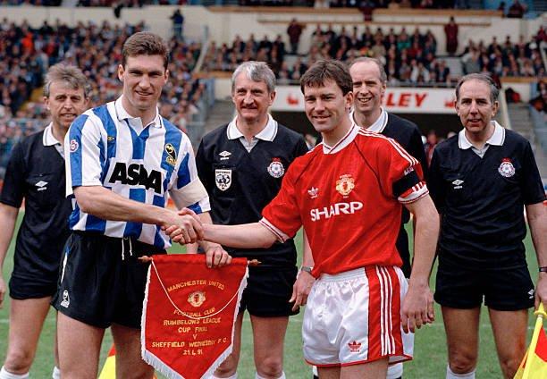 Áo đấu #7 Manchester United League Cup final 1991 home shirt jersey