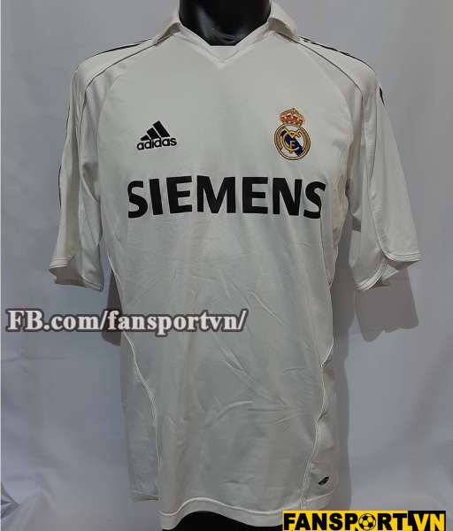 Áo đấu Beckham #23 Real Madrid 2005 2006 home shirt jersey white