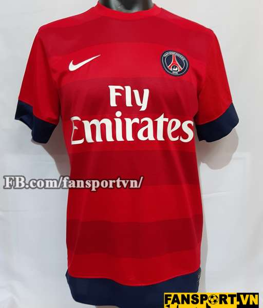 Áo đấu Beckham #32 PSG 2012 2013 away shirt jersey red