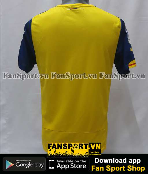 Áo đấu Arsenal FA Cup Final 2015 away shirt jersey yellow 2014