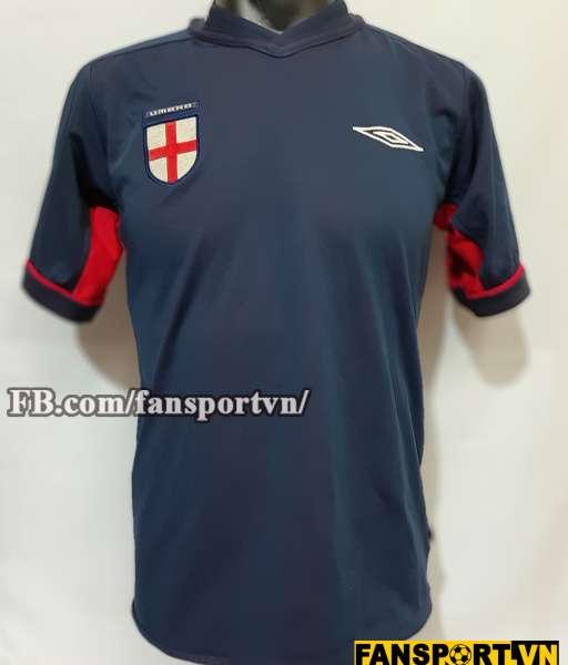 Áo đấu England 2002-2003-2004 away shirt jersey red