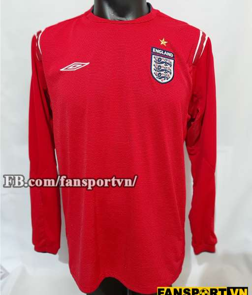 Áo đấu England 2004-2005-2006 away shirt jersey red