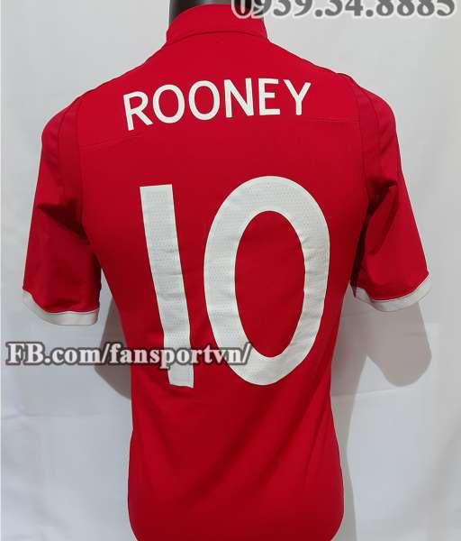 Áo đấu Rooney #10 England 2010 2011 2012 away shirt jersey