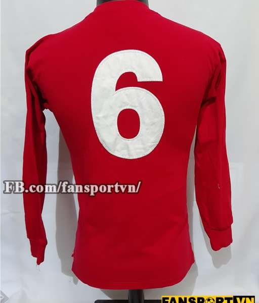 Áo đấu #6 England World Cup 1966 away shirt jersey red 1963 1970