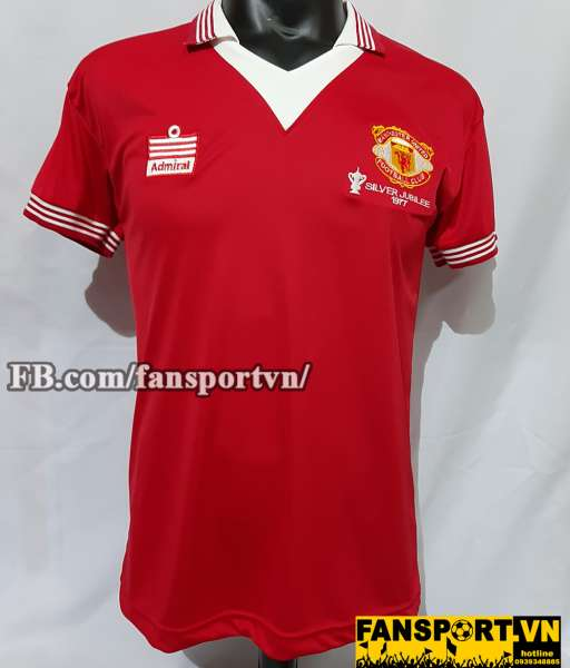 Áo đấu Manchester United FA Cup final 1977 home shirt jersey red
