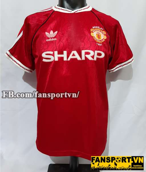 Áo đấu #7 Manchester United League Cup final 1991 home shirt jersey