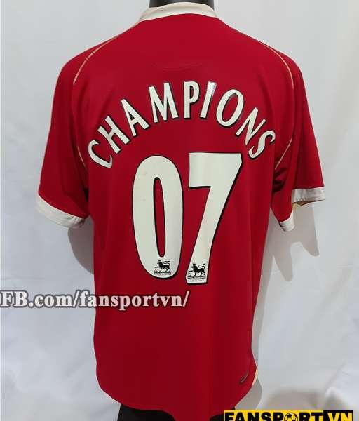 Áo đấu Manchester United Champions 2007 home shirt jersey red