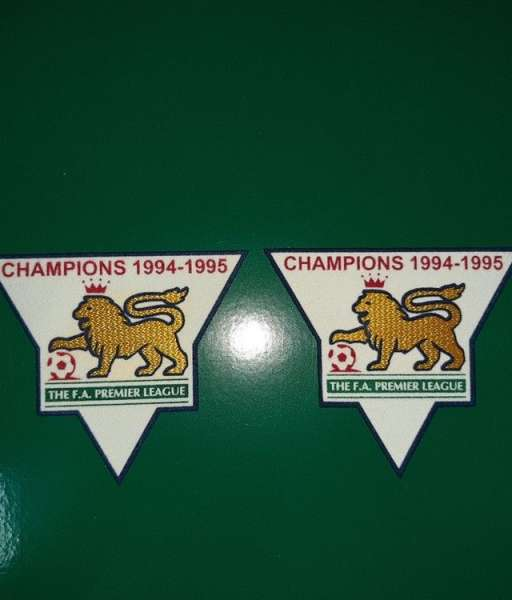 Patch F.A. Premier League 1994-1995 Champions badge gold