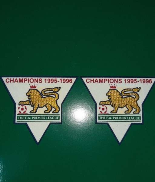Patch F.A. Premier League 1995-1996 Champions badge gold