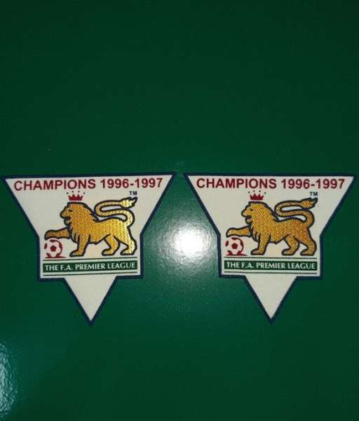 Patch F.A. Premier League 1996-1997 Champions badge gold