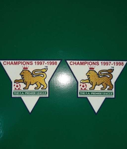 Patch F.A. Premier League 1997-1998 Champions badge gold