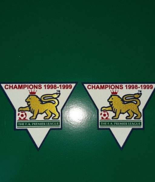 Patch F.A. Premier League 1998-1999 Champions badge gold