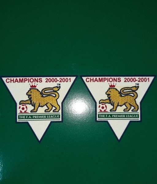 Patch F.A. Premier League 2000-2001 Champions badge gold