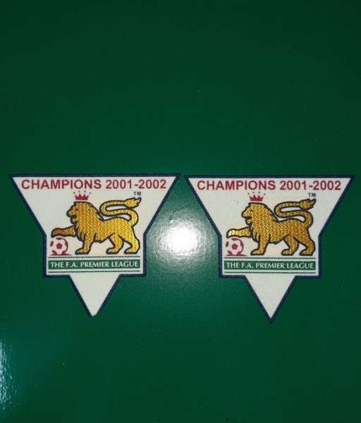 Patch F.A. Premier League 2001-2002 Champions badge gold