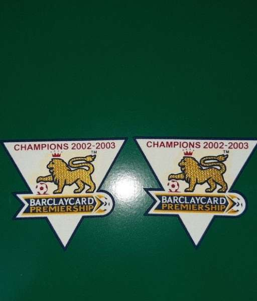 Patch F.A. Premier League 2003-2004 Champions badge gold