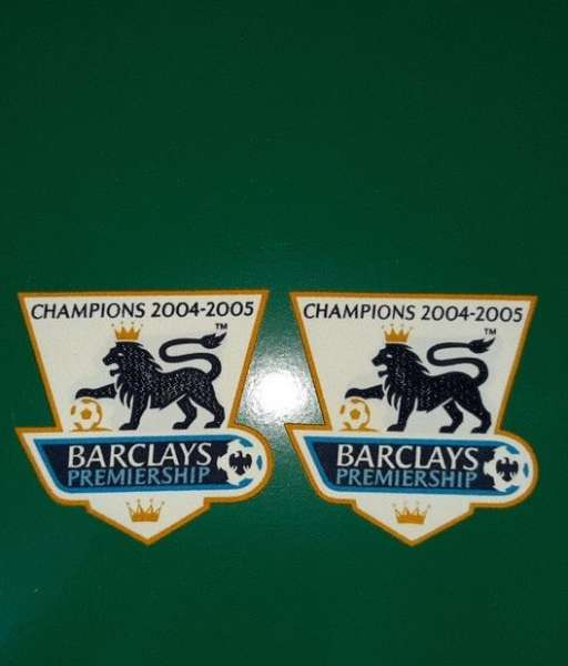 Patch F.A. Premier League 2004-2005 Champions badge gold