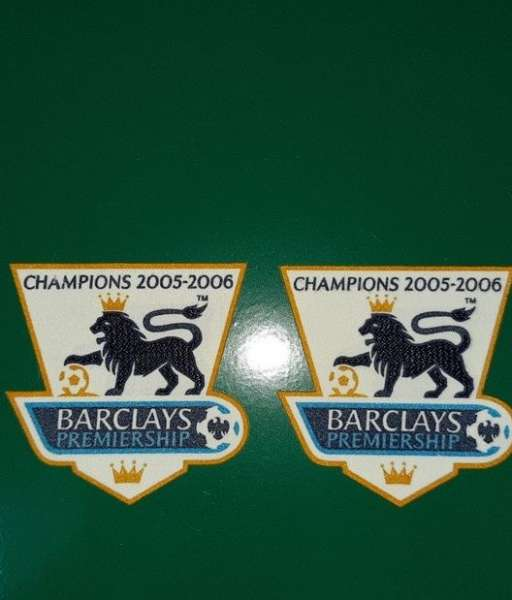 Patch F.A. Premier League 2005-2006 Champions badge gold