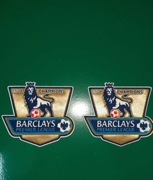 Patch F.A. Premier League 2007-2008 Champions badge gold