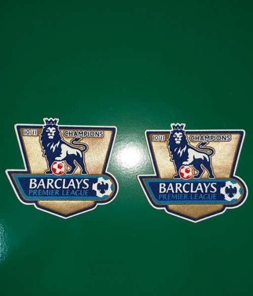 Patch F.A. Premier League 2010-2011 Champions badge gold