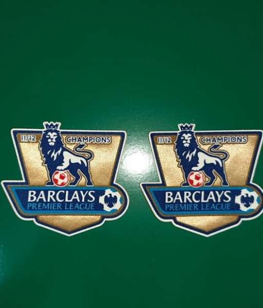 Patch F.A. Premier League 2011-2012 Champions badge gold