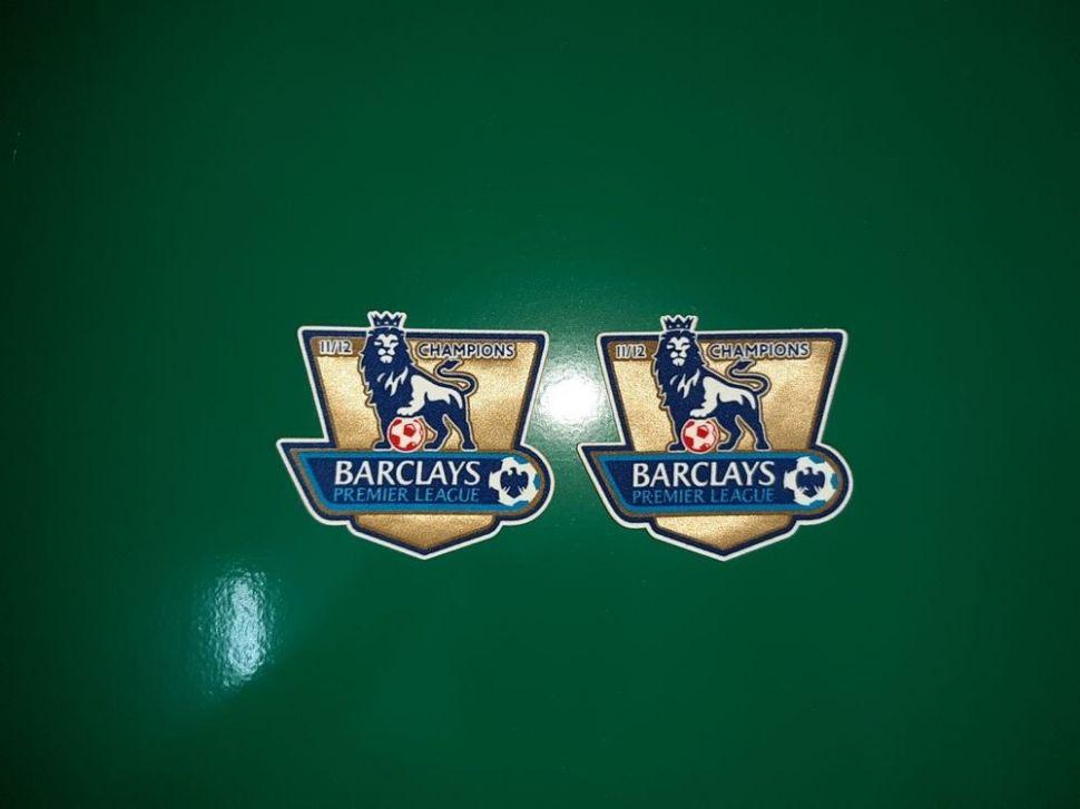 Patch F.A. Premier League 2011-2012 Champions badge gold