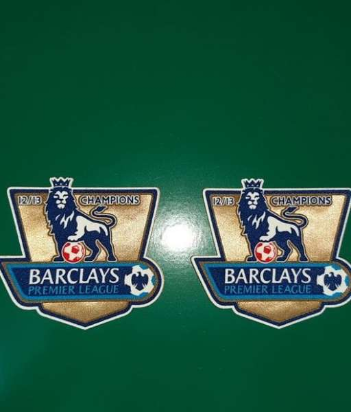 Patch F.A. Premier League 2012-2013 Champions badge gold